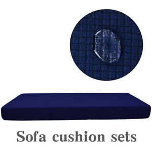 Replacement Waterproof Stretch Protector Sofa Seat Cover Cushion Couch Coverslip