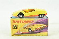 Matchbox Superfast #33 Datsun 126X Yellow Car with Box