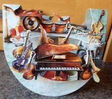 """3D Popnrock Card by Santoro  - """"Music"""""""