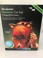 BROOKSTONE WIRELESS BLUETOOTH CAT EAR LED COLORS HEADPHONES New In Box $250