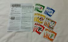 Fibber Board Game Replacement 24 Cards to Fibber Game Plus Instructions