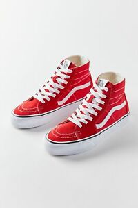 NEW IN BOX VANS SK8 HI Tapered Shoes in Red sz 10