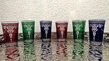 6 Marokkanische Orientalische Teegläser Teeglas Glas Gläser Orient Fes DEM3A
