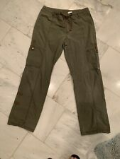 Columbia Pants Womens Cotton Tie Pockets size Small Olive Army Green Cargo
