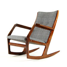 Retro Vintage Danish Georg Jensen Rosewood Rocking Chair Armchair 50s 60s 70s