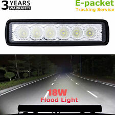 1x18W Flood LED Light Work Bar Lamp Driving Fog Offroad SUV 4WD Car Boat Truck