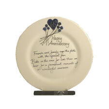 65th Wedding Anniversary Gift Plate (Flower) (Rd) (Blue Sapphire)