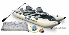 New Sea Eagle 375fc FoldCat Inflatable Fishing Boat delux Package