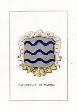 Araldica stemma araldico della famiglia Cavaniglia di Napoli