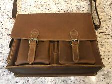 "Genuine Leather Messenger Bag for Men - 17"" Laptop Briefcase Certified RFID w..."