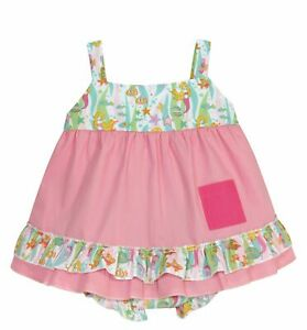 Stephan Baby Go Fish Swing Top and Ruffled Diaper Cover, 6-12 Months