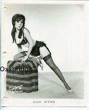 GAIL WYNN Burlesque Exotic Dancer Go Go Girl 8x10 ORIGINAL 1960 PHOTO Stockings