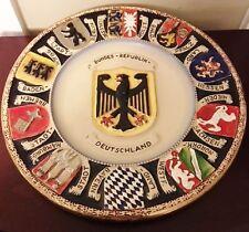 "Vtg Western Germany Coat of Arms 11"" Plate Bundes-Republik Deutschland German"