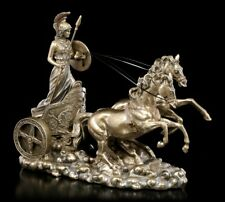 Athena (Minerva)On Chariot Greek Roman Goddess of War Wisdom Cold Cast Bronze .