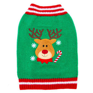 Top Paw Pet HOLIDAY REINDEER Sweater Comfortable Warm Festive Applique X-Large