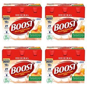 Boost Original Nutritional Drink Peaches & Creme, 8 fl. oz. 6 Pks. (24 Total)
