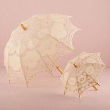 Antiqued Battenburg Lace Parasol Small Ivory Vintage Wedding Weddingstar
