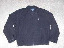 POLO Ralph Lauren black full zip front soft casual Jacket men's Large