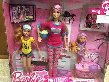 Barbie Sisters Stacie Chelsea Slumber Party Sleeptime Pj Pajamas Popcorn Playset