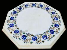 Pietra Dura Art Side Table Top Marble Coffee Table Home Furniture Size 18 Inches