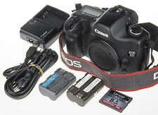 Canon EOS 5D DSLR w. 2x battery, 8 Gb CF, 2150clicks +Extended FW *excellent c.*
