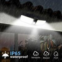 Outdoor Solar Power Motion Sensor Lights Garden Flood 80 LED PIR Security Light