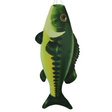 "48"" Green Bass fish windsock garden décor – In the Breeze Itb-5115"