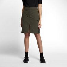 Nike WOMEN'S Sportswear Tech Bonded Skirt SIZE MEDIUM BRAND NEW Olive