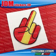 Adesivo 3D resinato STICKER Shocker handFUCK OFF auto moto SPAIN rosso e giallo