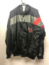8dd6bc5cc Vintage 80s adidas Jacket Button Up Trefoil Spell Out Black Red RUN DMC  Shiny M