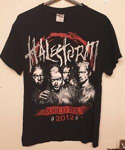 Halestorm World Tour 2012 Band Tee Shirt