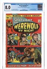 Marvel Spotlight #2 CGC 8.0 1st App. Of Werewolf By Night Jack Russell Pedigree