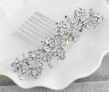 Bridal Dress Accessories Diamante Floral Alice Band Crystal Wedding Headdress