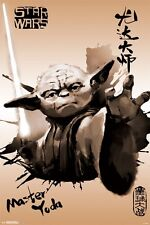 STAR WARS - MASTER YODA PAINTING POSTER - 24x36 MOVIE 14762