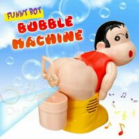 Bubble Machine Cartoon Automatic Bubble Maker Blower Music Bath Toy For Kid XMas