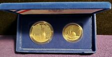 1986 USA STATUE OF LIBERTY 2-COIN PROOF SET WITH 90% SILVER DOLLAR A