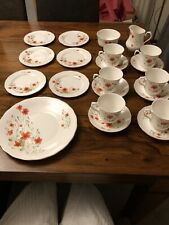 Vintage Royal Vale 21 Piece Tea Set Exclusive Poppy Design For Women's Weekly