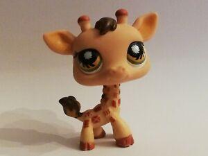 Littlest Petshop LPS Girafe Orange Vert (Giraffe Orange Green) #902