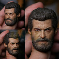 Wolverine 3 1/6 scale Logan Beard Old Man Head Sculpt Model Action Figure Toy
