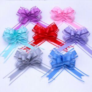 Organza Florist Pull Bows Ribbon Wedding Car Decor Gift Packaing 20PCS