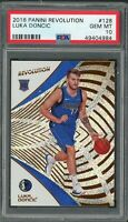 Luka Doncic Dallas Mavericks 2018 Panini Revolution Rookie Card RC #128 PSA 10