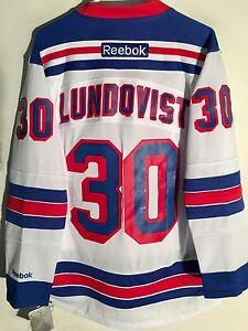 Reebok Premier NHL Jersey New York Rangers Henrik Lundqvist White sz S