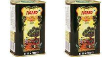 Figaro Olive Oil 2x 200ml Tin Pack Spain Skin Massage Hair Moisturiser Free Ship