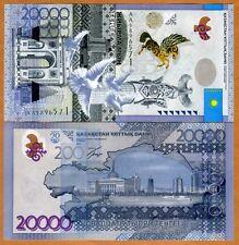 Kazakhstan, 20000 (20,000) Tenge, 2013 (2015) Pick New, Hybrid Polymer, AA, UNC