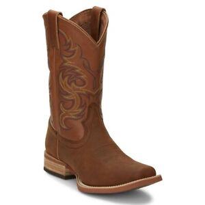 Justin Men's Cowman Cognac Brown Western Boots 7314