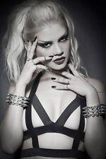 Quality caged bra body harness punk Gothic festival.pentagram lingerie 2 band
