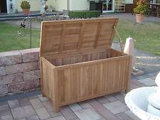 Auflagenbox Teak 125cm geschlosse Gartenbox Kissenbox  Gartenmöbel Teakholz