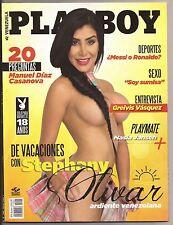 PLAYBOY VENEZUELA AUGUST 2015 COVER STEPHANY OLIVAR PLAYMATE NASIA JANSEN