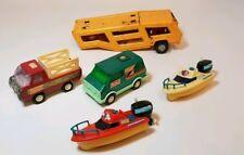 "Vintage Buddy L Toy Green Custom Van 4 3/4"" Stake Truck, lot Misc."