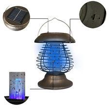 Solar Powered UV Mosquito Insect Zapper Killer Bug Trap LED Garden Light Lamp